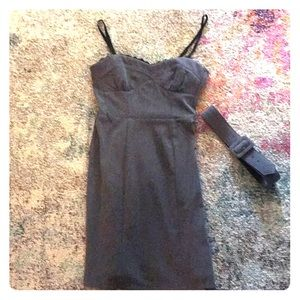 Size 4 gray dress with corset like top
